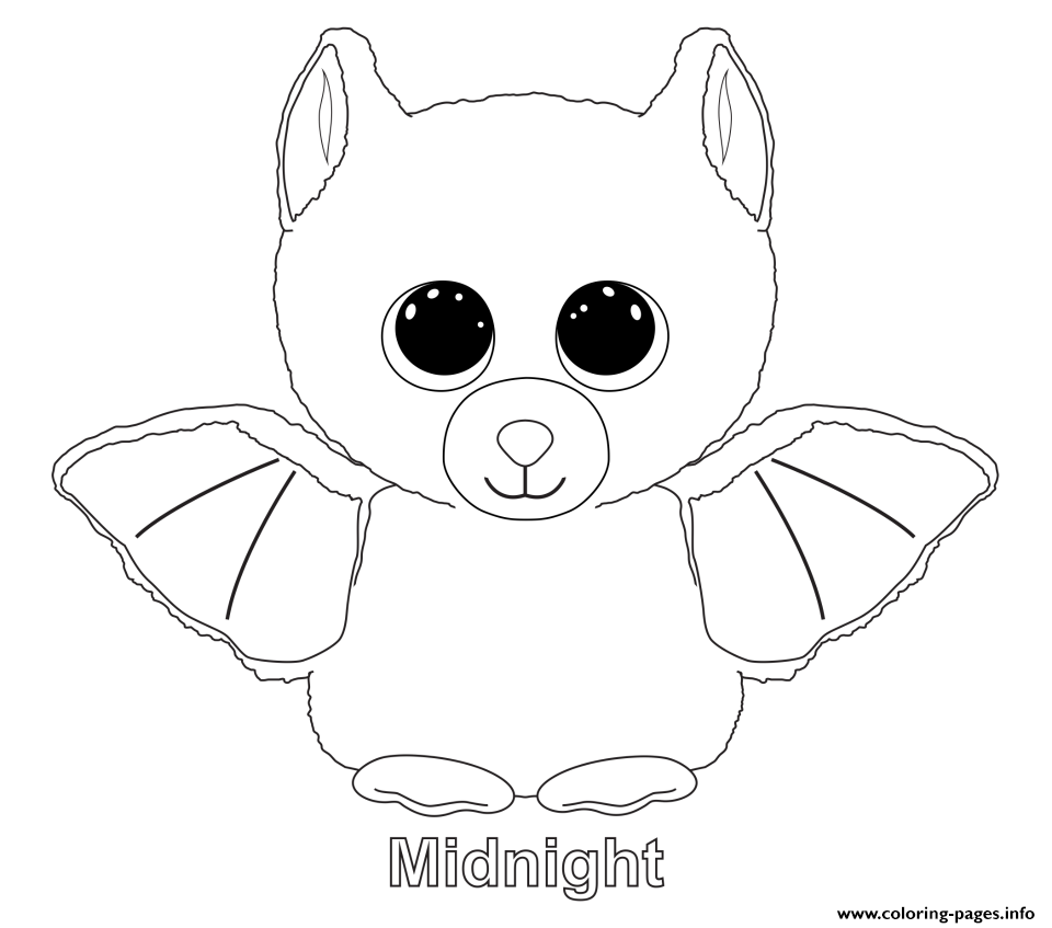 - Print Midnight Beanie Boo Coloring Pages (mit Bildern