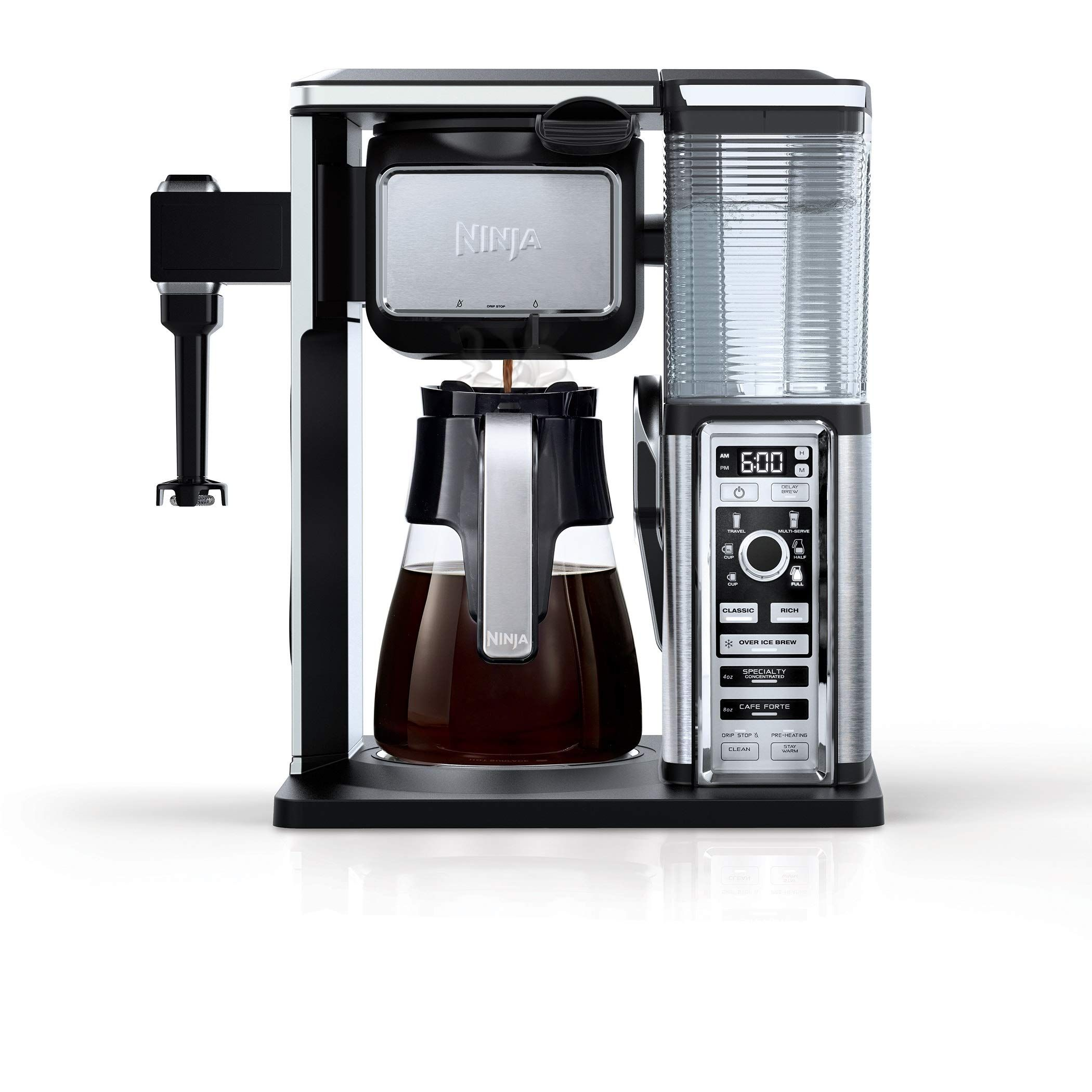 Ninja CF091 Coffee Makers 50 oz Silver >>> Check out the