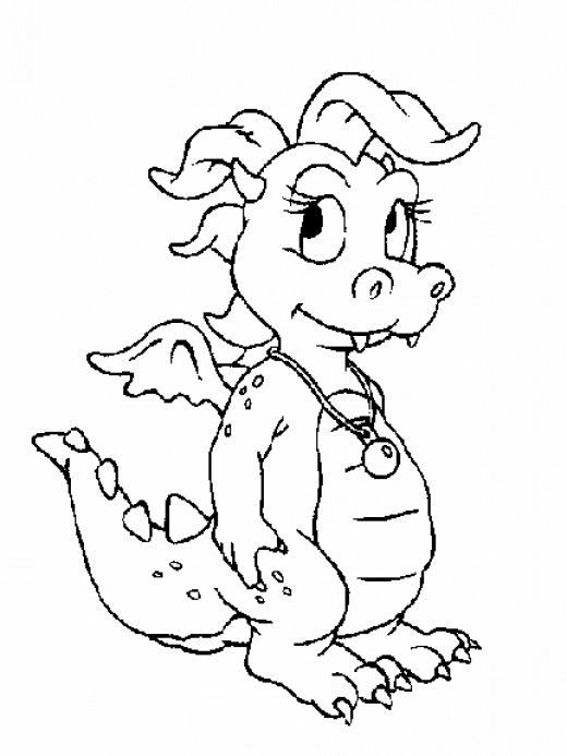 Baby Boy Shower Dragon Printable Coloring Pages