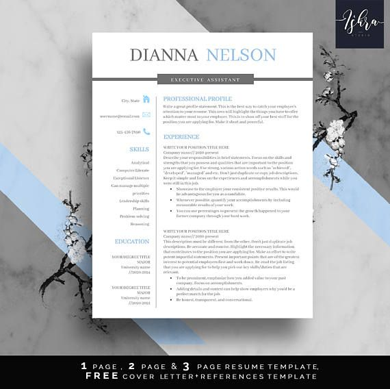 Buy Resume Templates Delectable Buy One Get One Free Resume Professional Resume Template One Two