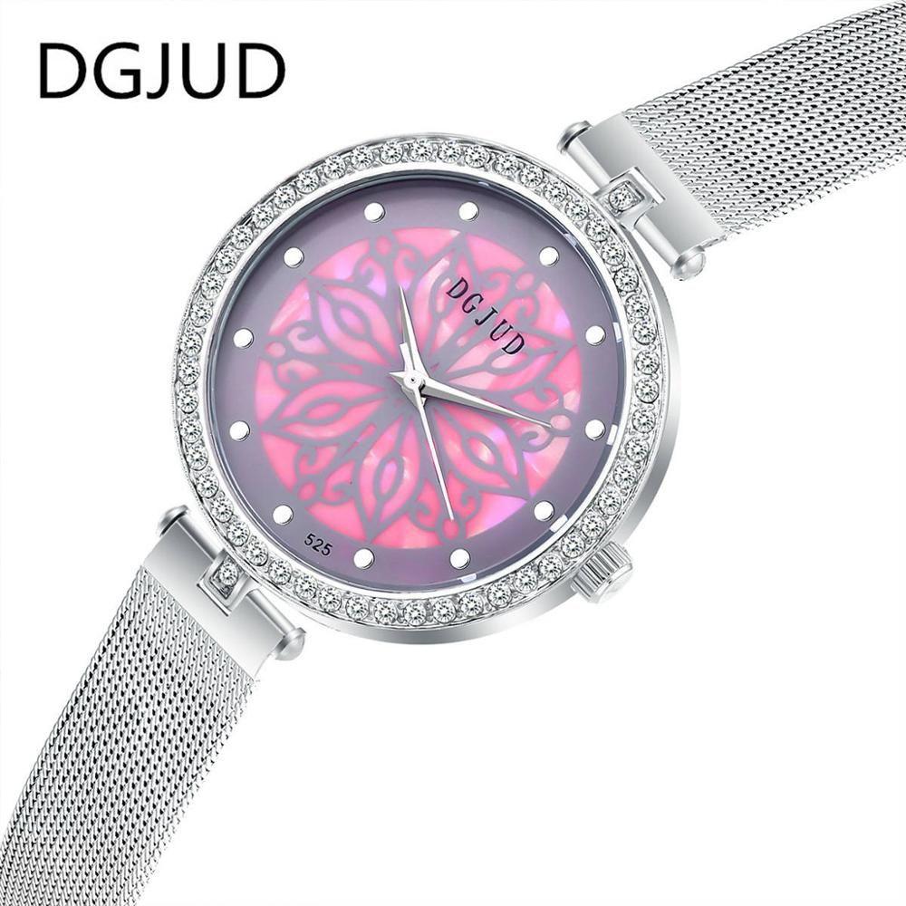 41320761880 luxury brand women watches bracelet watch ladies Stainless Steel fine mesh  Quartz wristwatches women casual Diamond