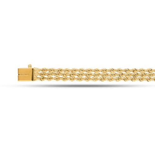 Triple Rope Chain Bracelet In 14K Yel... for only $550.00
