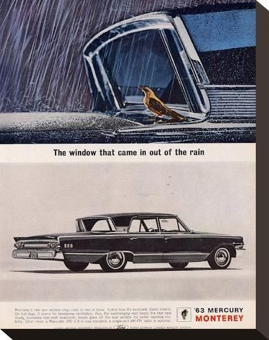 '1963 Mercury - Out of the Rain' Stretched Canvas Print - | Art.com