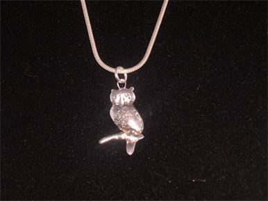 PURE SILVER ANTIQUE OWL PENDANT - $85.00 #jewellery #pendant #pure silver #silver #antique #owl #handmade #handcrafted