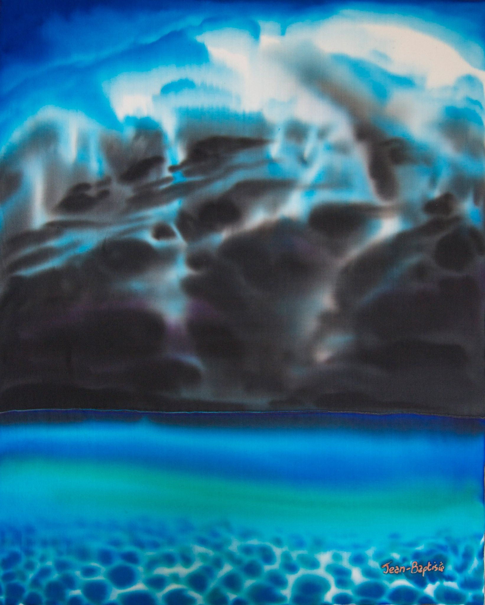 Carib God Hurricane By Daniel Jean Baptiste On 500px With Images Silk Painting Silk Art Unique Paintings