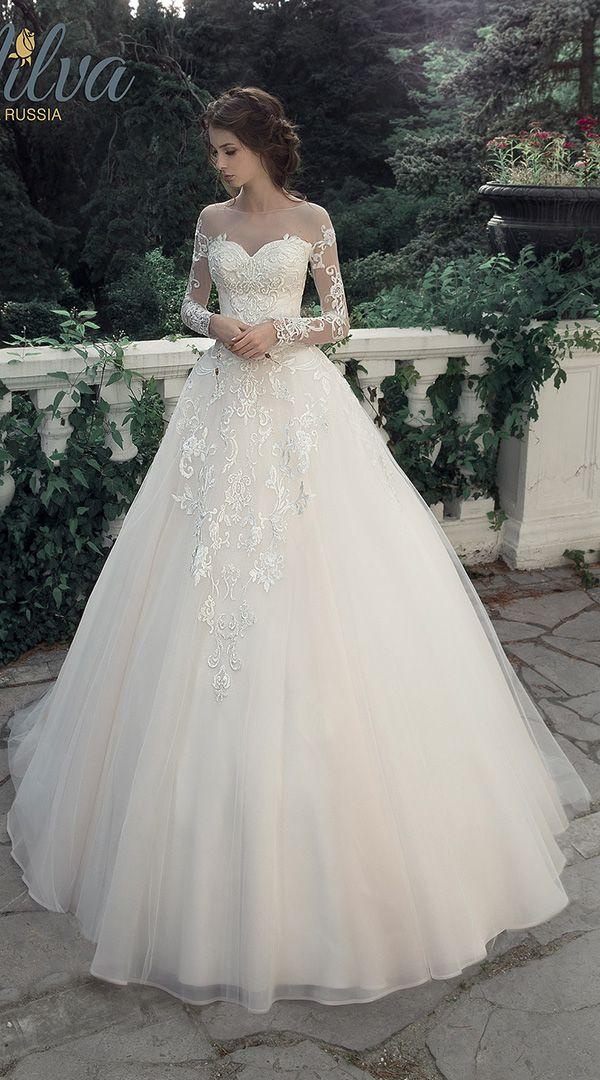 Milva Illusion Long Sleeves Princess Wedding Dress For 2017
