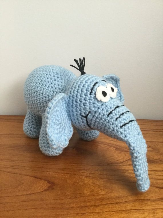 SALECrochet Amigurumi Dr. Seuss Horton Hears by ShimmereeCreations ...
