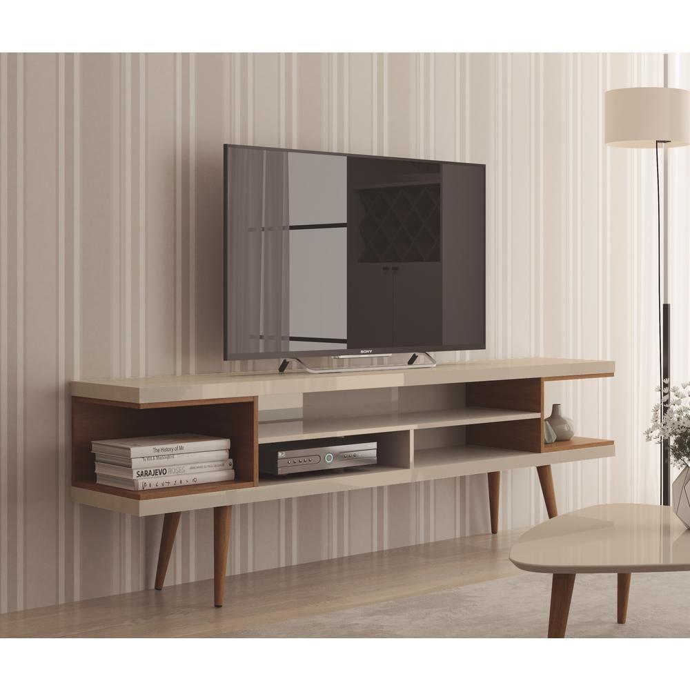 Manhattan Comfort Utopia Off White And Maple Cream Entertainment Center 19751 Wooden Tv Stands Mid Century Modern Tv Stand Modern Tv Stand