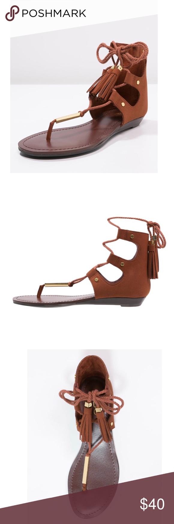 0d6a6e92289e ALDO Jakki T-Bar Gladiator Sandals    EXCELLENT CONDITION    Worn a handful