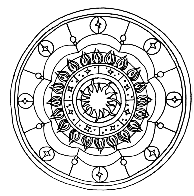 Mandala Sonne Bilder Zum Ausmalen Ausmalen Ausmalbilder