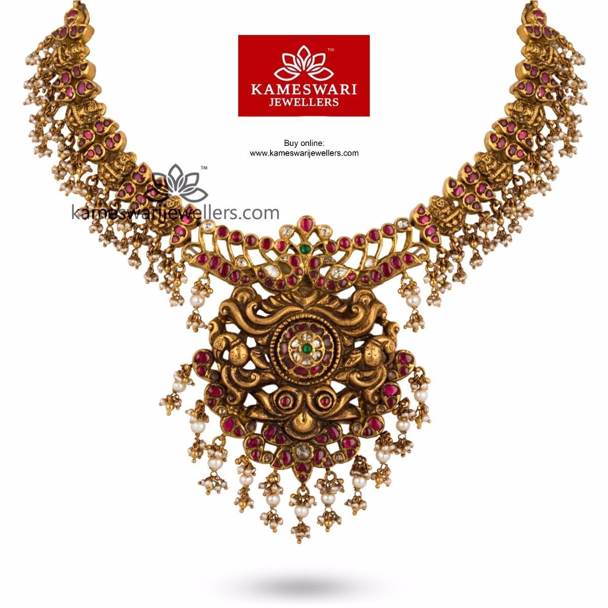 Buy Traditional Necklaces Online At Kameswari Jewellers In India And Usa