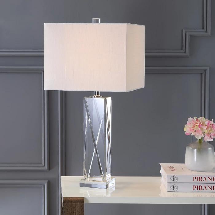 26 5 Sullivan Crystal Led Table Lamp Clear Includes Energy