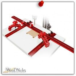 Woodpeckers Drill Press Table w/ Knuckle Clamps - Woodpeckers Drill Press Table features easier to use fence clamping knobs and zero side play flip stops. Also the heavy duty clamping T-Tracks and low-friction micro-dot laminate. woodwerks.com #woodworking #woodpeckers