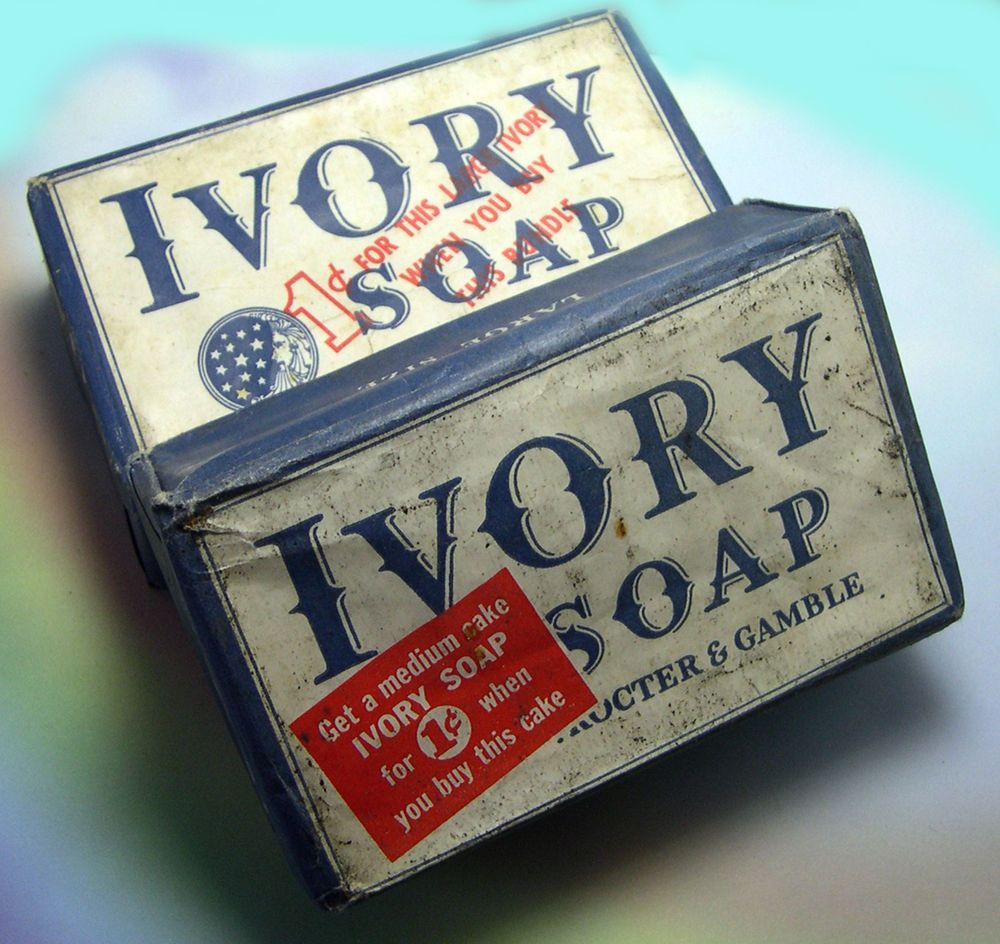VTG Vintage IVORY Soap Bars Laundry Hand Cleaner