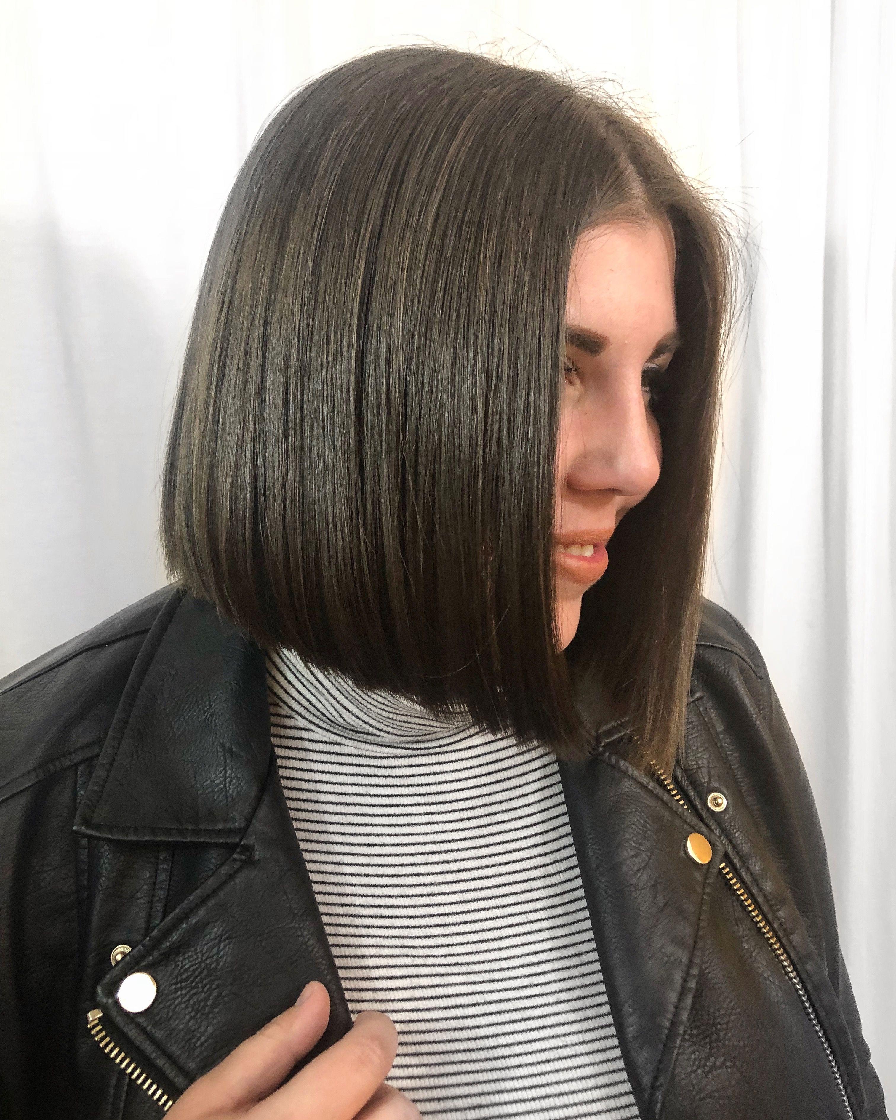 Blunt Haircut Bob Lob Hair Brunette Fall Haircut No Layers Above Shoulder Hair Lucy Hale Above Shoulder Hair Shoulder Haircut Shoulder Hair