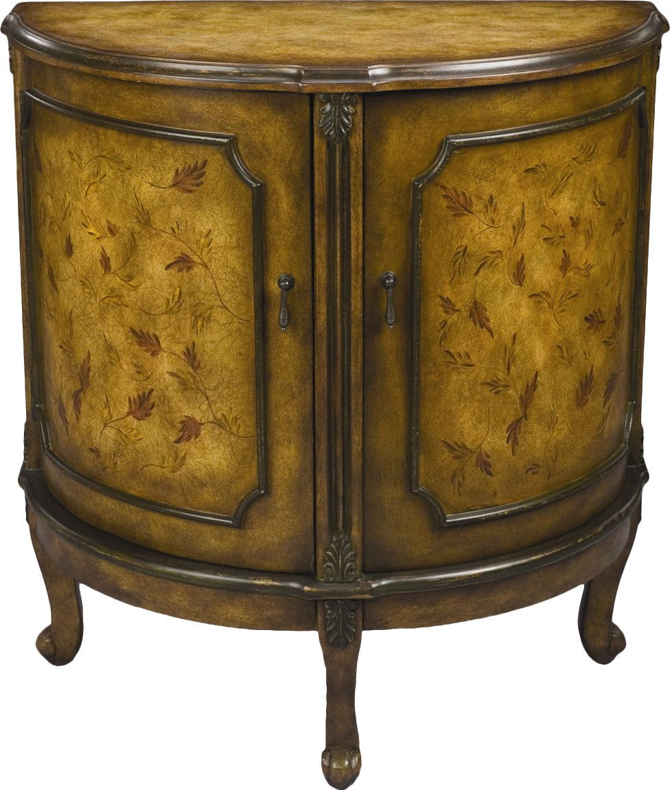 2 Door Half Circle Accent Cabinet Accent Cabinet Cabinet Furniture Styles
