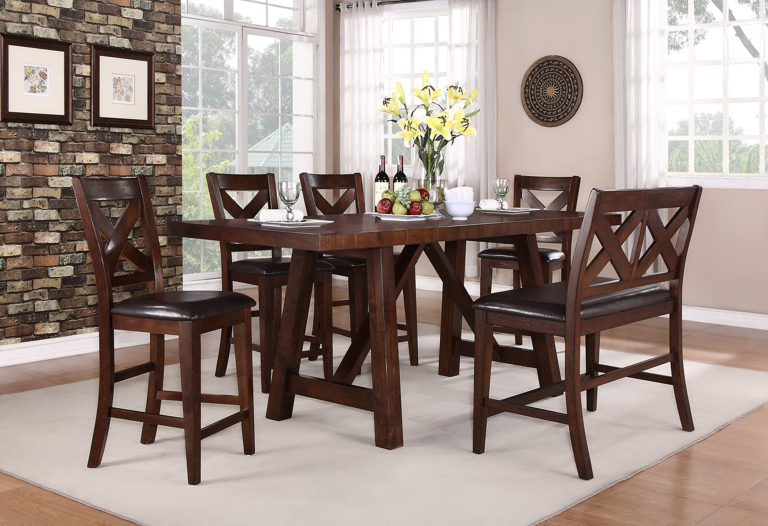 Colonial Gathering Table And 4 Counterstools By Thomas Cole Designs Hom Furniture
