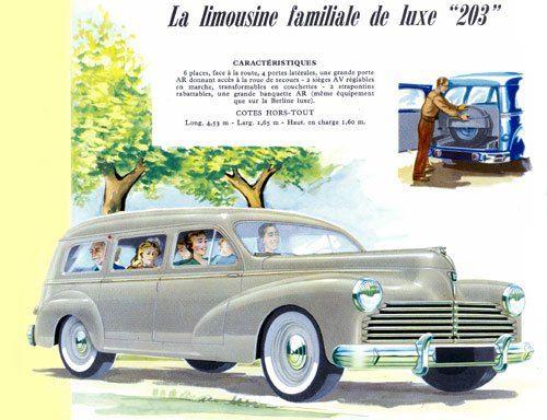 Peugeot 203 Familliale 1955 Cata 001 Jpg Courtesy Automania Peugeot Peugeot France Wagons