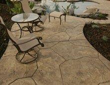 Stone Tan Stamped Concrete Heritage Bomanite Fresno Ca
