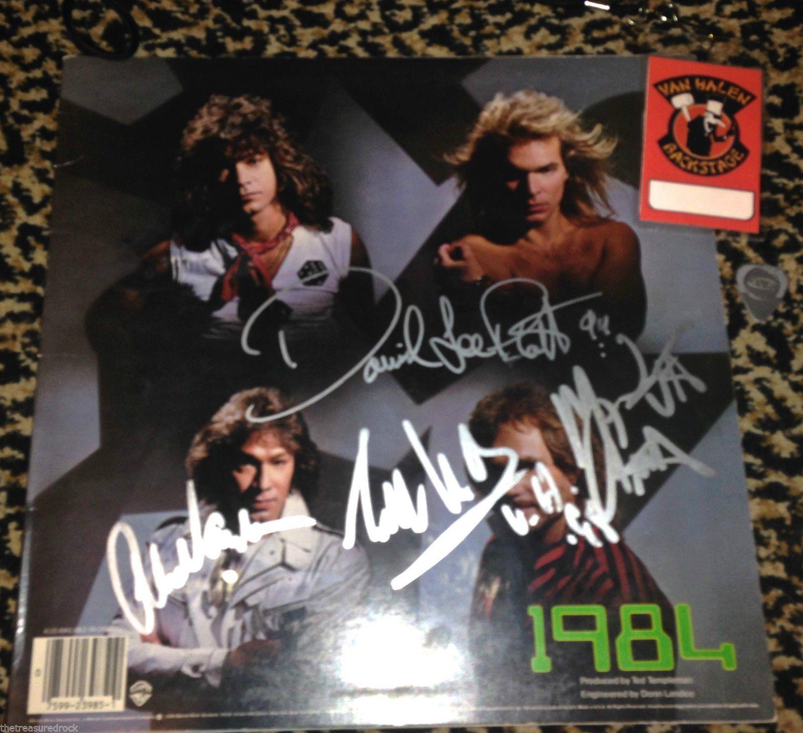 Van Halen 1984 Signed Autographed Lp Pass Record Eddie Alex Roth Anthony Psa Dna Want To Know More Click On The Image Affil Van Halen Halen Eddie Van Halen