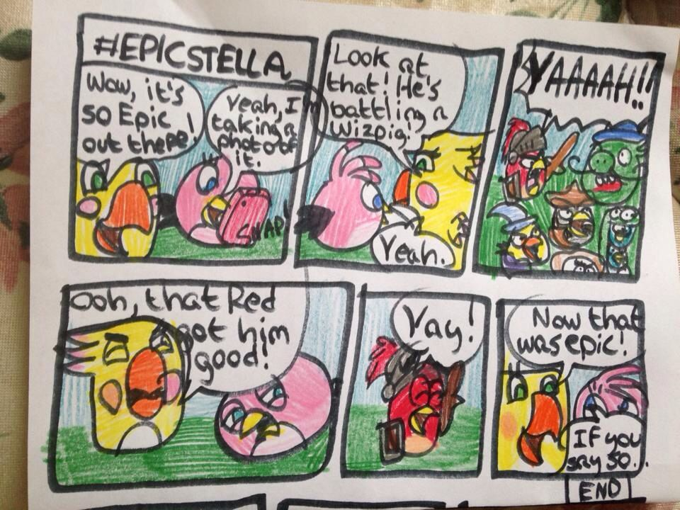 Comic 18 Epic Stella Angry Birds Stella Comics Pinterest - fresh angry birds go jenga coloring pages