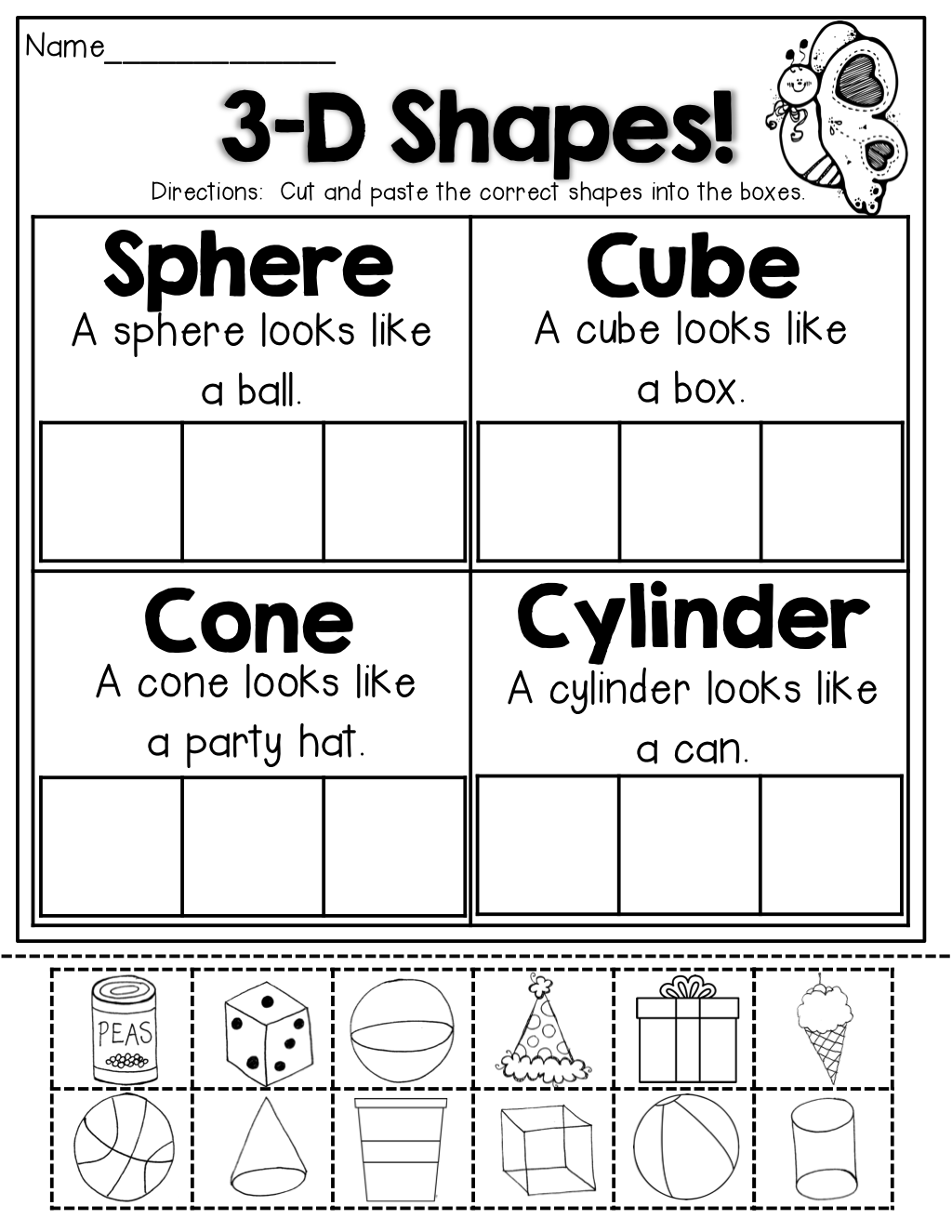 3-D Shapes! TONS of great printables that hit core skills ...