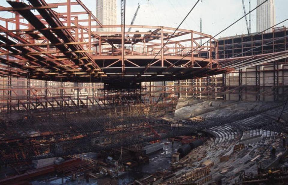 Madison Square Garden Under Construction 12 02 1966 Under