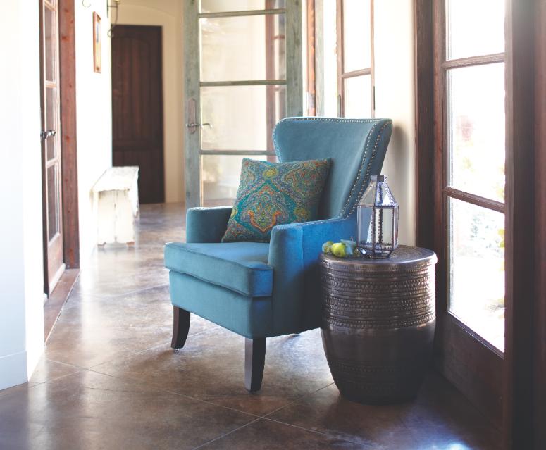 Pacific Blue Elliott Wingback Chair