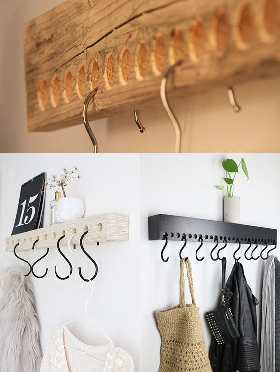 Photo of DIY wall hooks for organizing and decorating