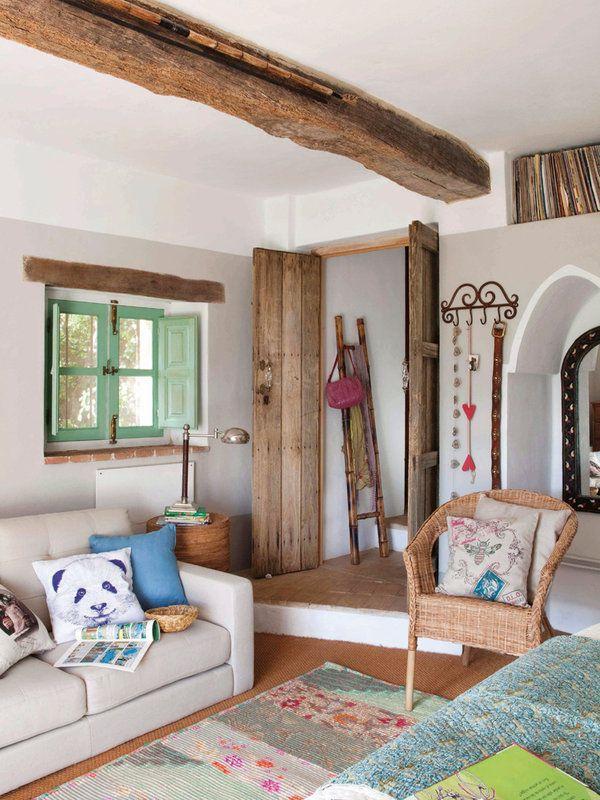Claves para decorar casas de campo Rustic room Living rooms and Room