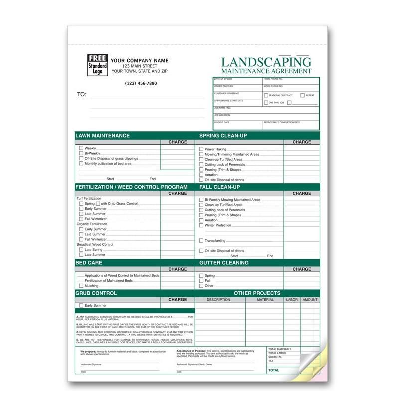 Landscaping Work Order Landscaping Business Resource Pinterest - invoices forms