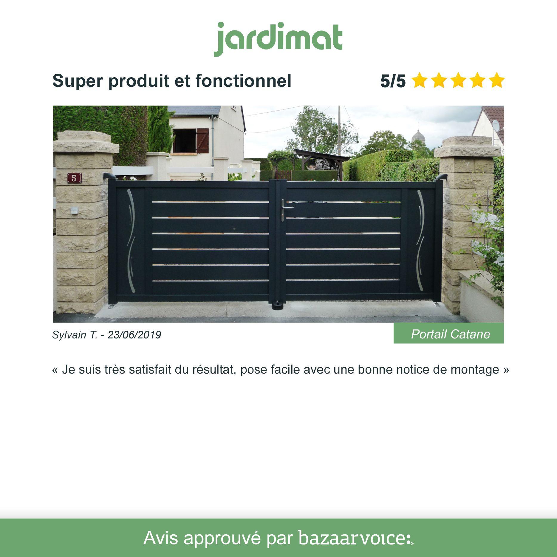 Fenetre Alu Noir Avis portail alu catane décors vagues. #jardimat #exterieur