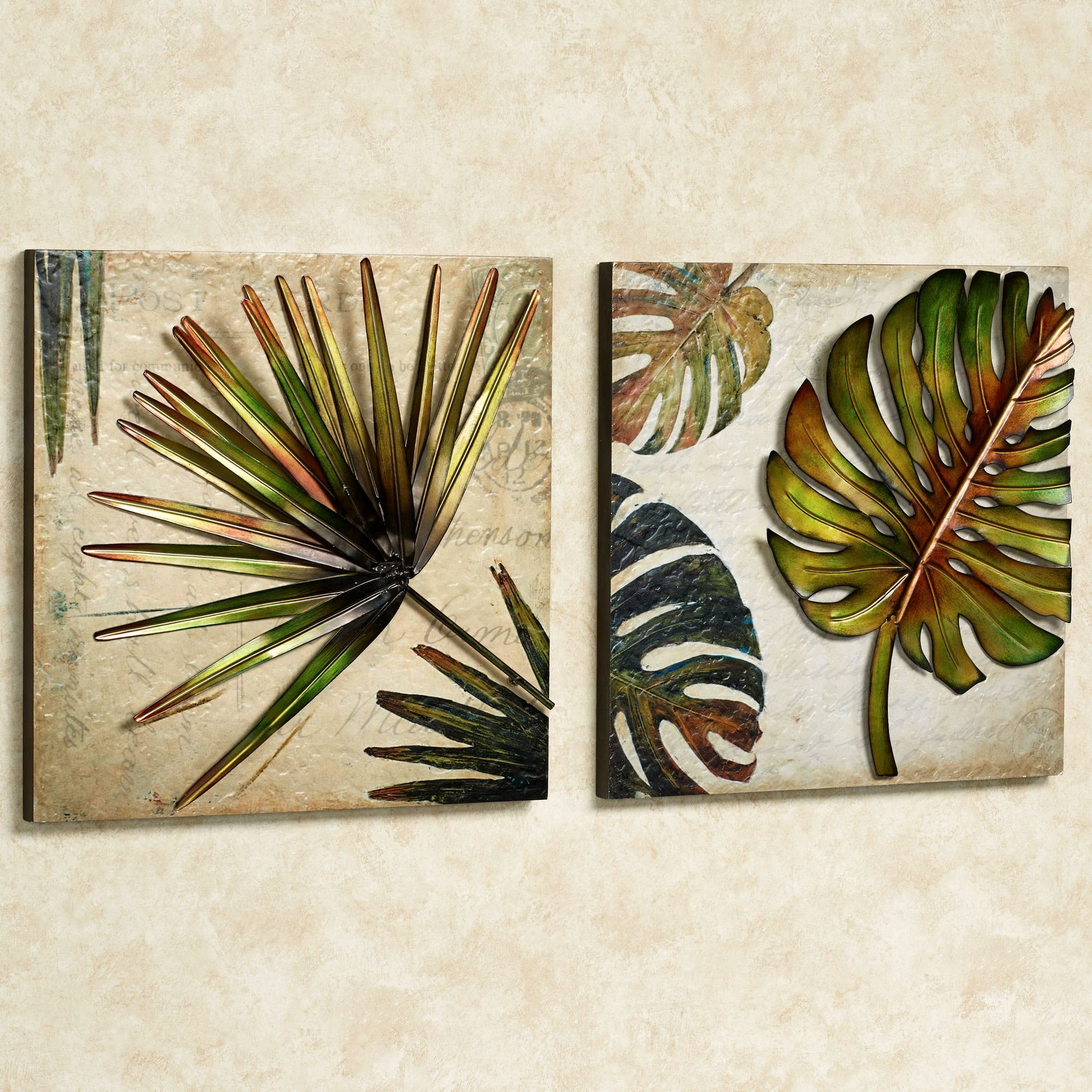 Beau Tropical Impressions Dimensional Wall Art Set