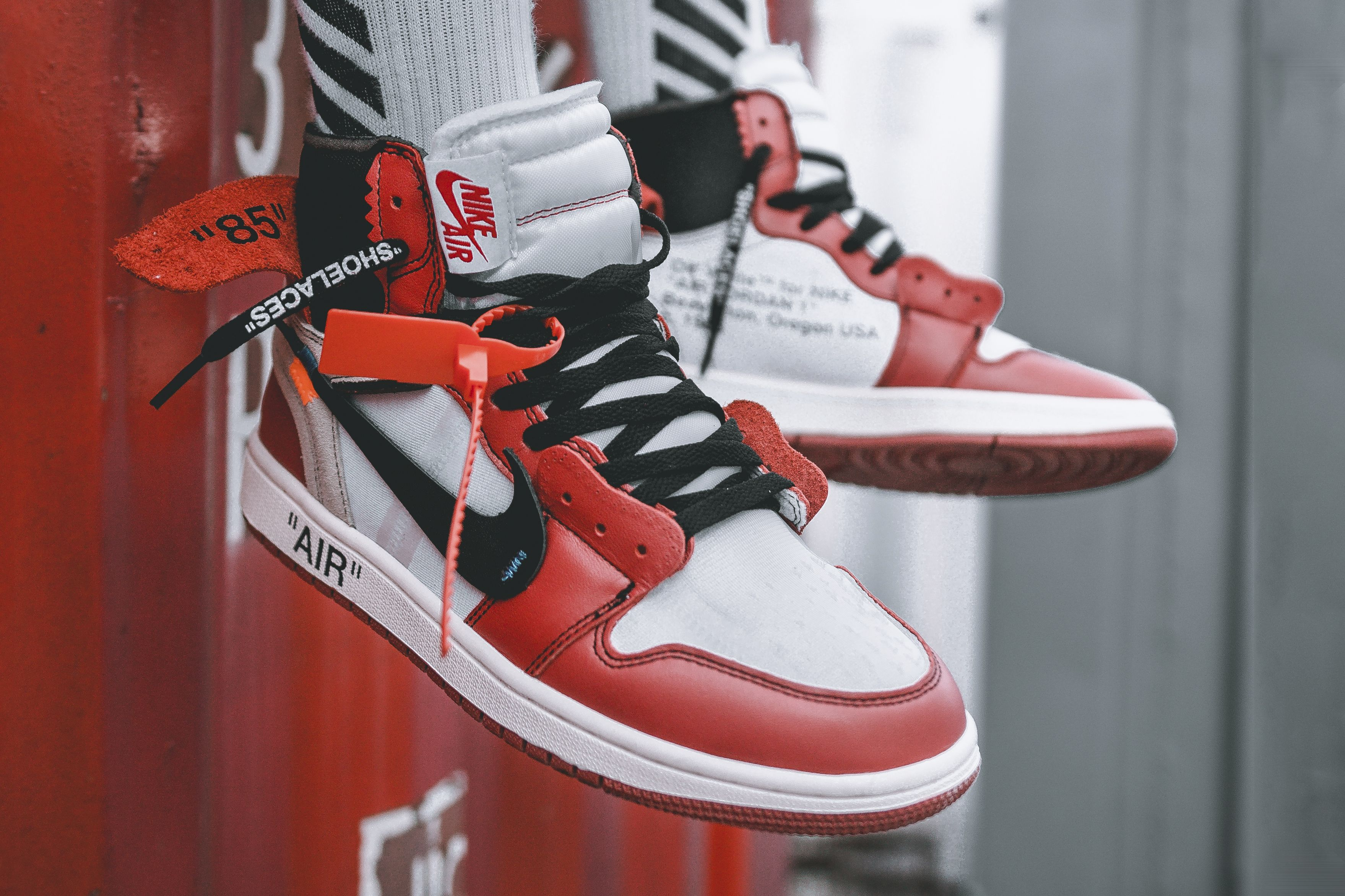 An On Feet Look At The Off White X Air Jordan 1 With Images