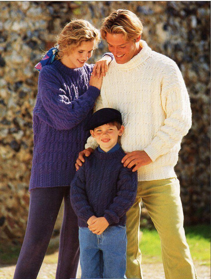 womens / mens / childrens aran sweater knitting pattern pdf ladies ...