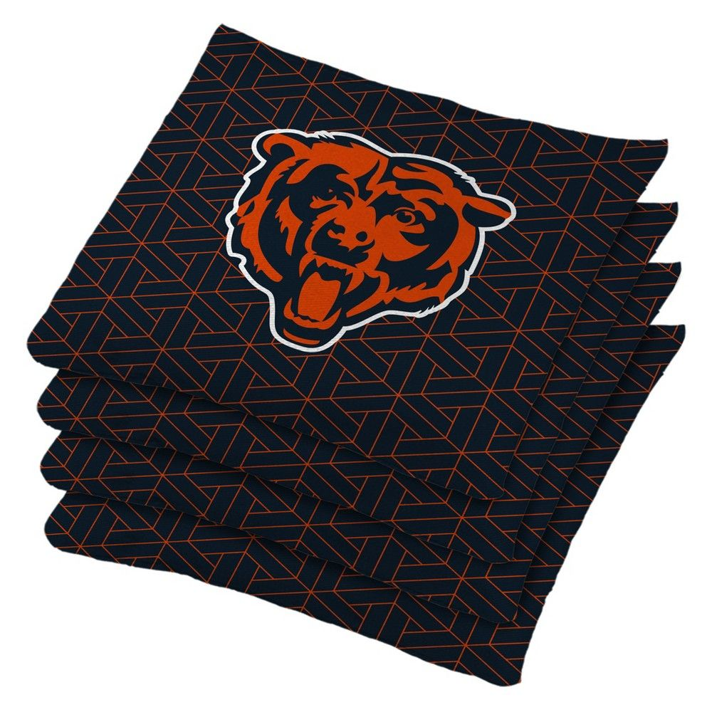 Amazing Chicago Bears 4Pk Bean Bag Set Navy Blue In 2019 Gmtry Best Dining Table And Chair Ideas Images Gmtryco