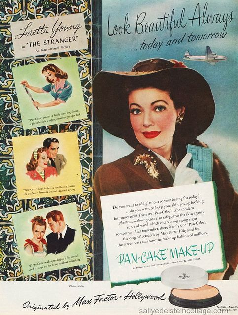 Image detail for -maybelline # 1940s advert # 1940s cosmetics # vintage advert