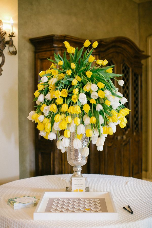 Royal Oaks Country Club Wedding Yellow White Floral Arrangements Floral Arrangements