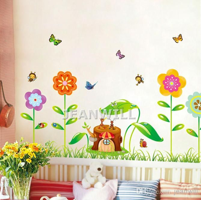 Best Removable Wall Sticker Decal Flower Butterfly Ant Bee Kids Room Nursery  Wall Decor Decoration XY8098