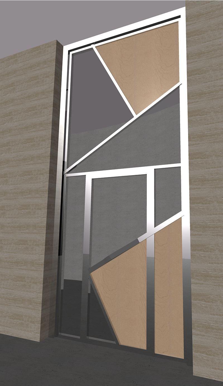 2006 puerta n dise o de ernesto o ate para puerta de for Puertas de madera con cristal