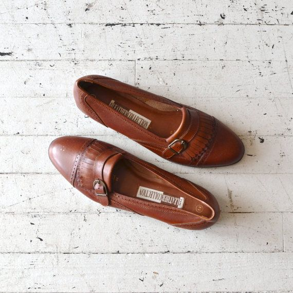 Rob Roy loafers / 80s leather fringed loafers / by DearGolden, $42.00