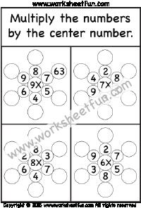 Multiplicación - 5 Hojas de trabajo | Matemáticas | Pinterest ...
