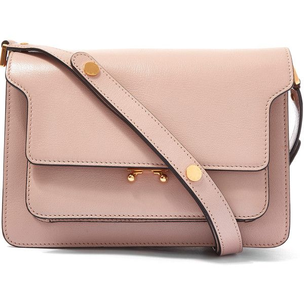 Marni Medium Pink Trunk Leather Shoulder Bag found on Polyvore ...