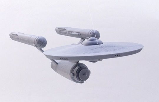 Large scale model of Starship Enterprise 3D Printed on