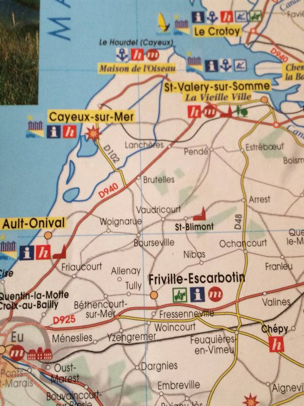 Normandie map Sponsored by Flandres Love We love cycling at