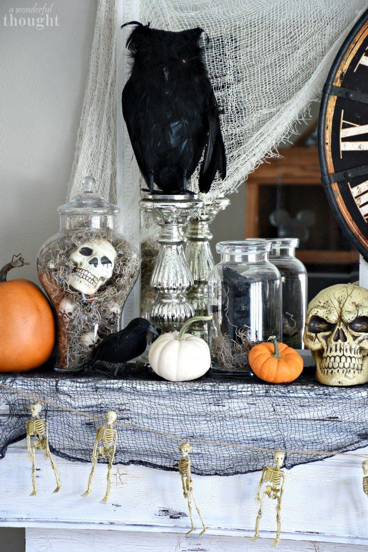 Spooky Halloween Mantel Halloween mantel, Halloween