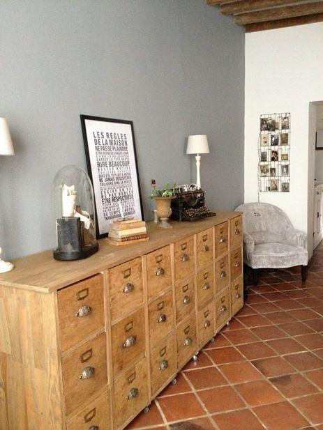 meuble; rangement; tiroirs; multi; bois H O M E Pinterest - meuble de rangement avec tiroir