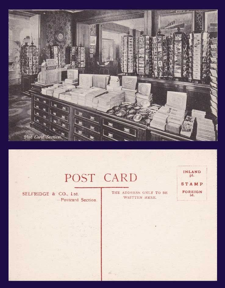 Uk London Selfridge Department Store Post Card Section Selfridge Postcard Mr Selfridge