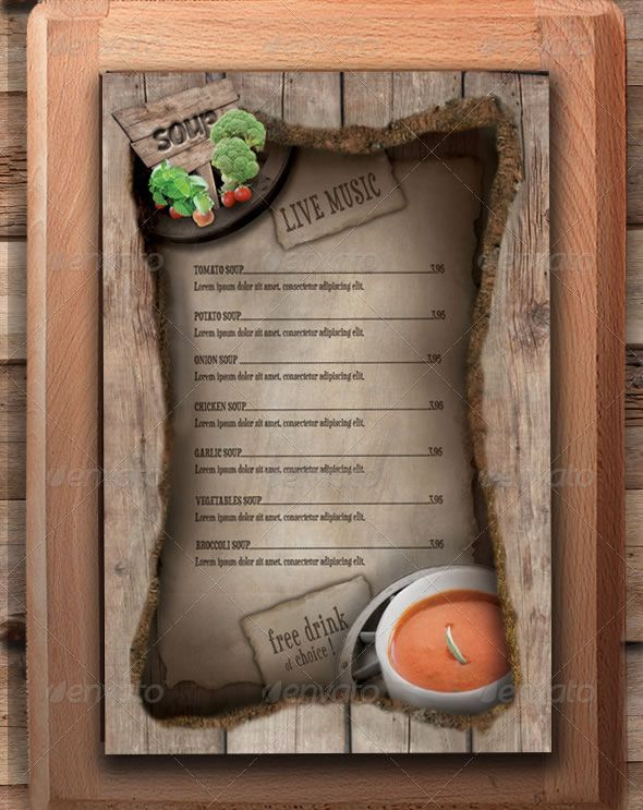 Restaurant Menu Template  Wild Buffalo  Inspiration