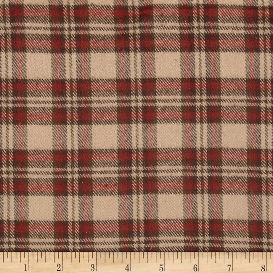 Flannel Elements Classic Plaid Flannel Fabric - Red by Beverlys ...